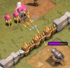 岩場の要塞の攻略方法 アーチャーを上の方に配置する