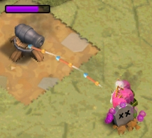 ゴブリンの砲台の攻略方法 もう片方の大砲の近くに残りのアーチャーを配置